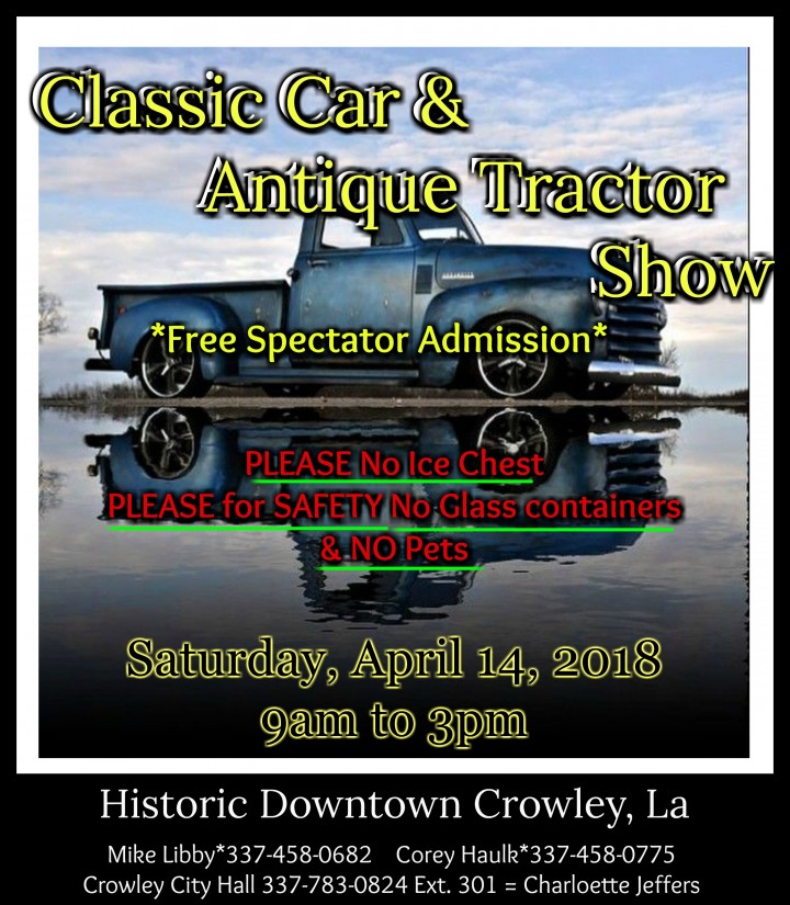 Classic Car & Antique Tractor Show/Downtown Crowley